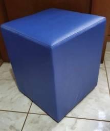 Puff Azul Quadrado Cubo