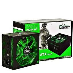 (Novo) Fonte Gamer Atx 500w Reais Pc Cowboy Kp-534 Silenciosa 110v 220v