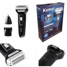 Maquina De Barbear Aparador Elétrico 3 Em 1 Kemei Km-6558
