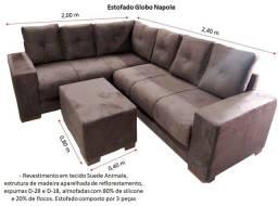 Título do anúncio: Sofá em L - Estofado Globo Napole