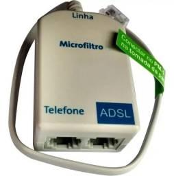 Microfiltro Para Modem Adsl De 2 Saídas - Telefone + Adsl