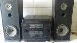 Aparelho 3 em 1 radio k7 e toca discos