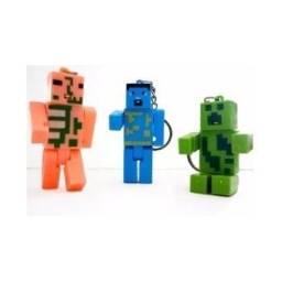 0a2f30444f5ce Chaveiro Minecraft C Luz de Led e Som Boneco Minecraft