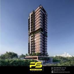 Apartamento inovador, 2 dormitórios à venda, 60 m² por R$ 290.160 - Miramar - João Pessoa/