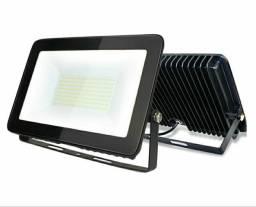 Refletor Slim LED 200w 3000k amarela 6000k branca