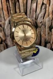 Lindo relógio Atlantis dourado com desconto pra hoje.