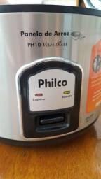 Panela Elétrica Philco 110V Inox/ preta com visor Glass