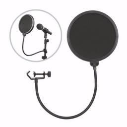 Filtro pop tela de proteção para microfone kp-m0018