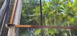Esquadria metálica pronta para fachada, só instalar a lona. medindo 2 de altura e 12 mt