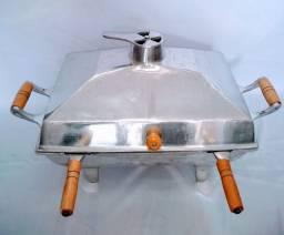 Churrasqueira á bafo de alumínio batido