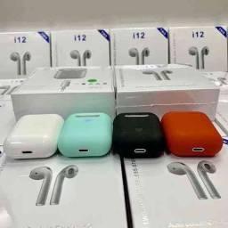Fone de Ouvido Sem Fio I12 Tws Bluetooth Com Touch: <br>