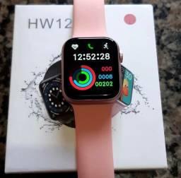 Smartwatch hw12 linha premium. Preto, prata, vermelho, azul e rosa