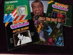 LPs - Os Gigantes do Jazz (Liquida: 5 LPs)