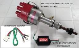 Distribuidor Mallory Válvulas Inox Manley Comando Válvulas Hidr motor Ford V8 302