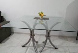 Mesa De Vidro 1,40 X 1,40cm - Grossura do vidro 1cm - *Não possui cadeiras*