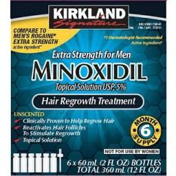 Minoxidil Kirkland 5% - Crescimento Capilar