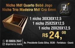 Nicho Mdf Quarto Bebê Jogo Nicho Trio Madeira Mdf Crú