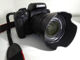 Canon T6i c/ 2 lentes (18-55 + 75-300) + SD 64GB + bolsa