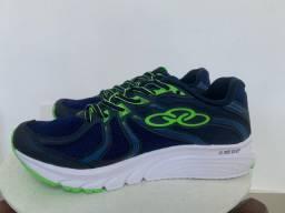Tênis Olympikus Sprinter 906.azul Escuro E Verde-olympikus-