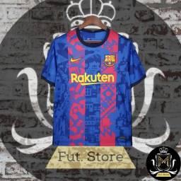 Título do anúncio: Camisa Barcelona modelo Champions league 21/22-nike-tamanhoG