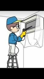 Higienização de aparelhos de ar condicionado