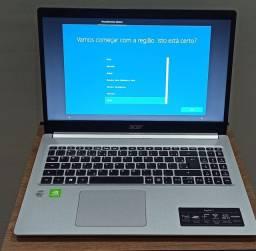 Notebook Acer Aspire 5 - I7 10º Geração, 8GB RAM, SSD 512 GB  (Placa de vídeo MX250 2GB)