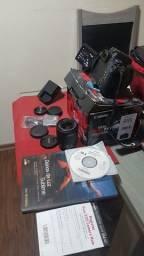 Canon T6I (2.700 cliques NOVA) + Lente 18:55 + Lente 50mm +Tripé