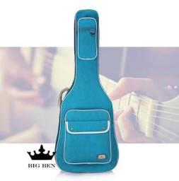 Semi Case Bag Violão Folk+Direct Box+Pedal Equalizer