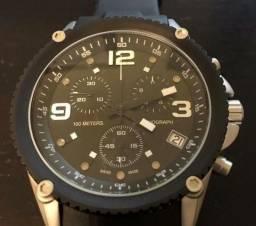 c82d6330f62 Relógio Sport Swiss Cronógrafo Eta G10.211 Preto