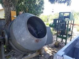Máquina de tijolo de bloco + betoneira