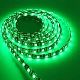 Fita LED Verde 5050 24w Rolo 5m