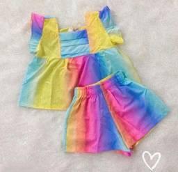 Conjunto infantil Tie Dye NOVO