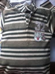 Camisa manga comprida 3 aninhos