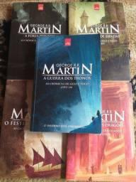 Coleção crônicas de gelo e fogo. 5 livros