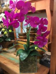 Arranjo de orquídea artificial