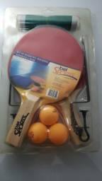 Kit Ping Pong Tênis Mesa Raquetes Rede Bolinhas Bel Sports
