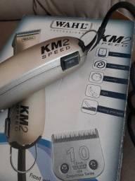 Máquina de tosa profissional Wahl + kit de banho e tosa +adaptadores