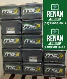 Título do anúncio: Bateria carro MG3 12 meses de garantia 45 AH 45ah Gol Uno Palio Classic
