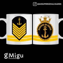 Caneca da Marinha do Brasil Caneca personalizada da Marinha / xícara copo caneca