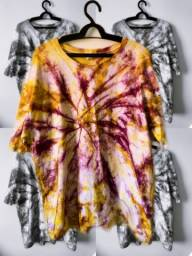 Camisas tie dye (feitas à mão)
