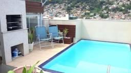 Cobertura duplex, com piscina e churrasqueira no terraço. Próx a Praça dos Bombe