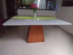 Mesa quadrada de vidro