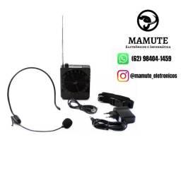 Megafone Microfone Amplificador Portatil Voz Sd Fm Usb Aux