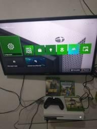 Xbox one S 500 gigas 3 jogos um controle