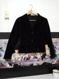 Título do anúncio: Casaco preto em veludo