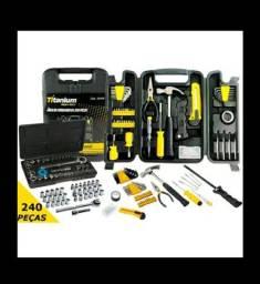 Kit ferramentas titanium novo por apenas 119.90 kit maleta de ferramentas *