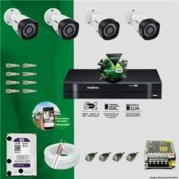 CÂMERAS de SEGURANÇA Intelbras cftv kit de 4 câmeras 5665