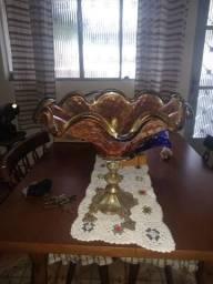 Linda fruteira carnival Glass (cor de fogo)