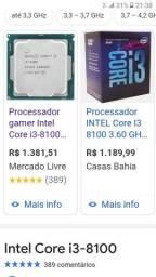 Processador 8° geração Intel core i3