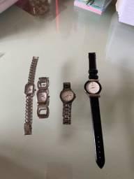 QUATRO 4 relógios de marca feminino SEM  BATERIA